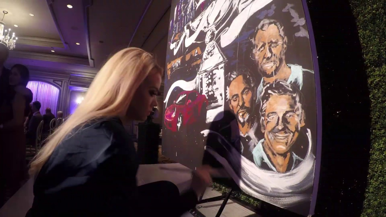 Speed Painter Jessica Paints FedEx Cup