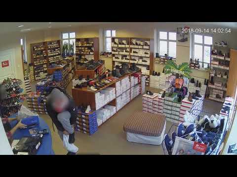 Kamera sklepowa nagrała złodzieja. Zobacz film.