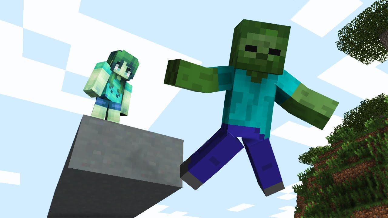 Monster School Girls Vs Boys Water Acrobatics - Minecraft -8146