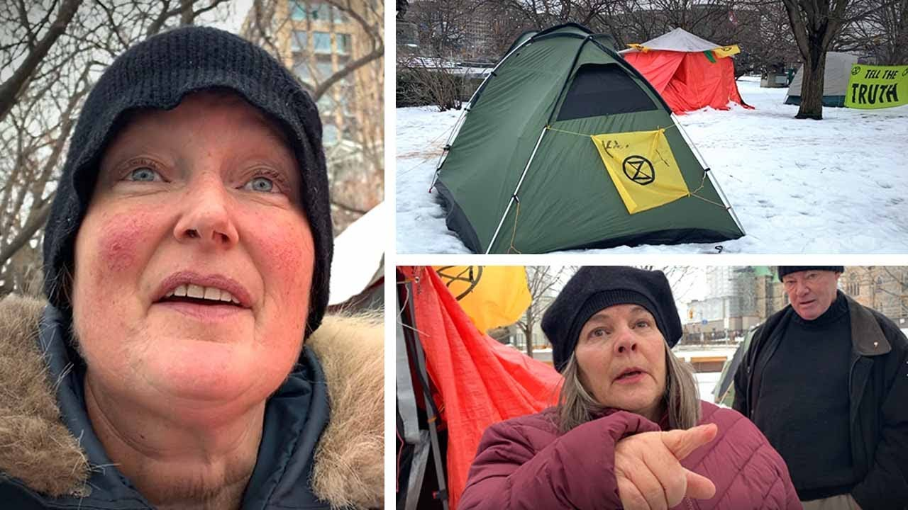 Greta Thunberg-inspired environmental extremists set up shanty town at war memorial | David Menzies