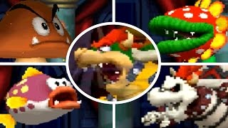 Repeat youtube video New Super Mario Bros DS - All Castle Bosses