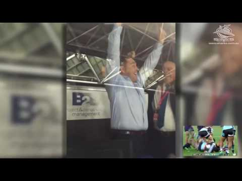 Shane Flanagan's reaction to the final minute of the grand final.