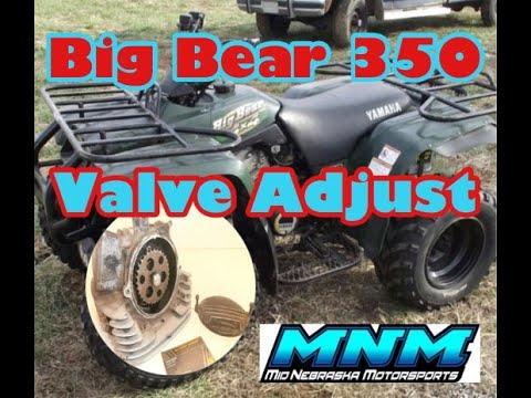 Yamaha Big Bear 350 4x4 Cylinder Head Valve Adjustment