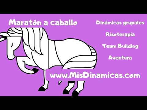 🐎Maratón a caballo #maraton #juego #campamento
