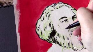 How to draw Karl Marx