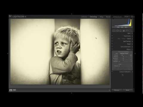 Обработка черно-белой фотографии