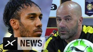 Peter Bosz über Pierre-Emerick Aubameyang und Duell mit AC Mailand | Borussia Dortmund
