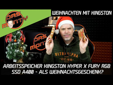Weihnachten mit Kingston Technology #BuildABetterChristmas | HyperX Fury + A400 SSD | DasMonty