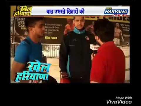 Manjeet Nagil and Lokesh  Boxer's Live on STV Haryana News part 1.2