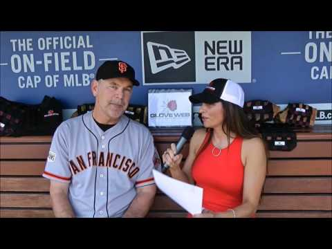 Glove Web, Bruce Bochy San Francisco Giants Manager | best way to shape your baseball glove.