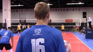 2018 AAU Anaheim Slainte Platinum vs Milwaukee Sting set 1