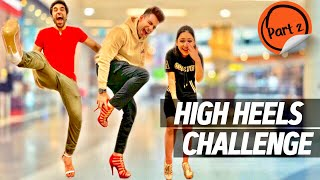 HIGH HEELS Challenge for 24 Hours Part 2 | Rimorav Vlogs