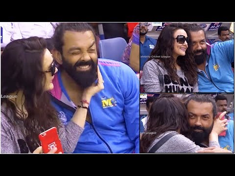 preity-zinta-and-bobby-deol-lovable-moments-at-ccl