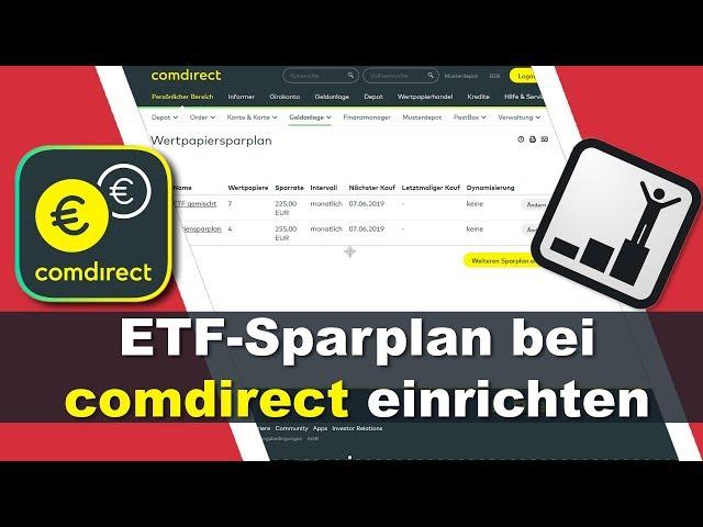 Kostenlosen ETF Sparplan bei comdirect einrichten - schnell und einfach erklärt