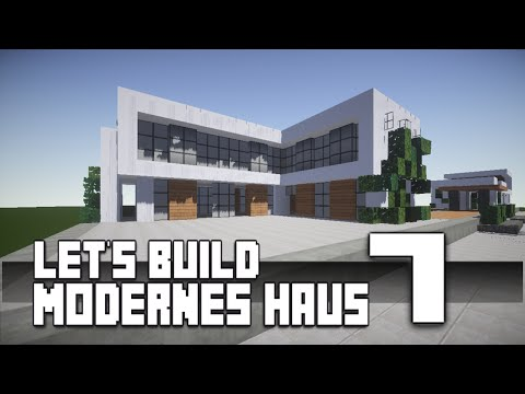 Minecraft modernes haus bauen 7 tutorial anleitung hd for Minecraft modernes haus download 1 7 2