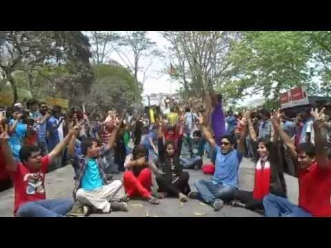 ICC World T20 2014 Flash MOB by Govt  Saadat College, Tangail