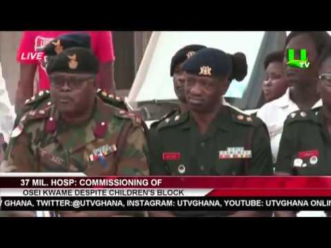 Dr. Osei Kwame Despite Builds Children's Block For 37 Military Hospital