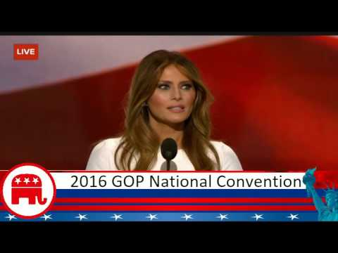First Lady Melania Trump gives Amazing speech at the Republican National Convention