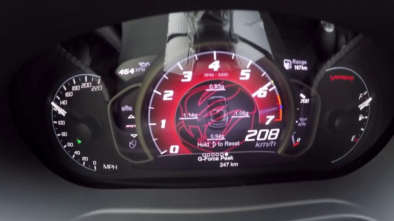 Dodge Viper ACR Acceleration! 120-280 km/h - YouTube