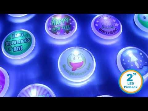 LED Light Up Button Product Showcase