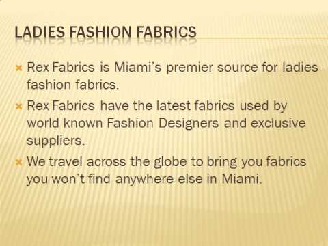 REX FABRICS- Fine Fabrics Around The world