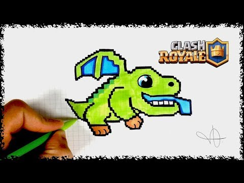 Dessin Bebe Dragon Pixel Art Clash Royal Youtube