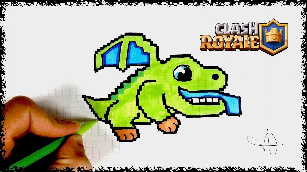 Dessin bebe dragon pixel art clash royal youtube - Dessin de bebe dragon ...