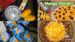 I tried Merium pervaiz special Mango delight Recipe easy and simpleonly 2 ingredients