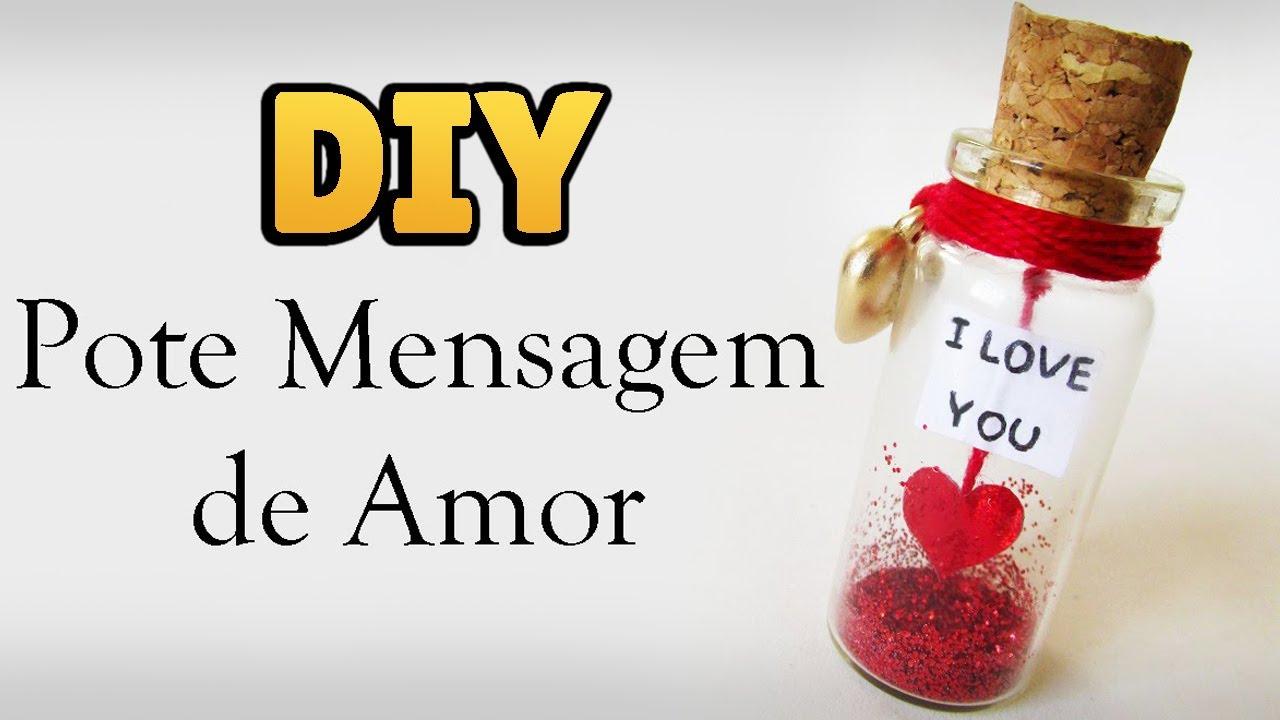 DIY Pote Mensagem De Amor Love Bottle Charm Dia