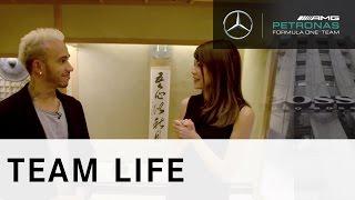 F1 Champion Lewis Hamilton visits Tokyo with HUGO BOSS