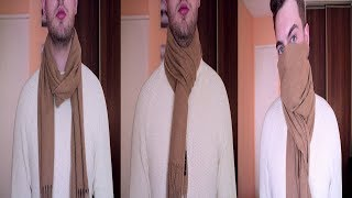 How To Style/Wear A Scarf/Scarves 3 Ways For Men|How To Tie/Wrap A Scarf For Guys|