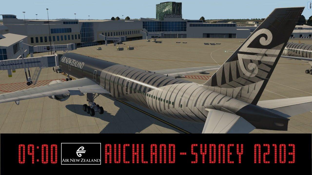 XP11 NZAA (Auckland) - YSSY (Sydney)