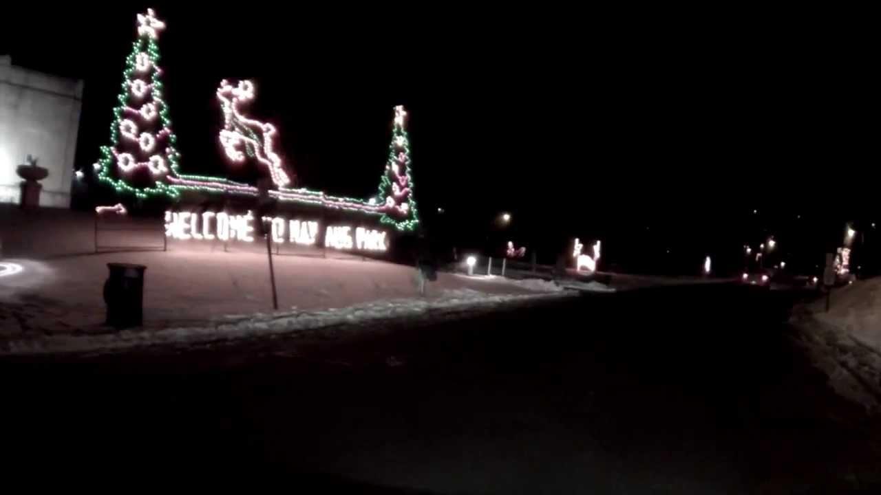 Nay Aug Park, Scranton, PA, Christmas Lights 2013 - YouTube
