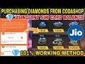 HOW TO PURCHASE DIAMONDS IN FREEFIRE FROM CODASHOP USING ANY SIM CARD BALANCE - 101% WORKING METHOD