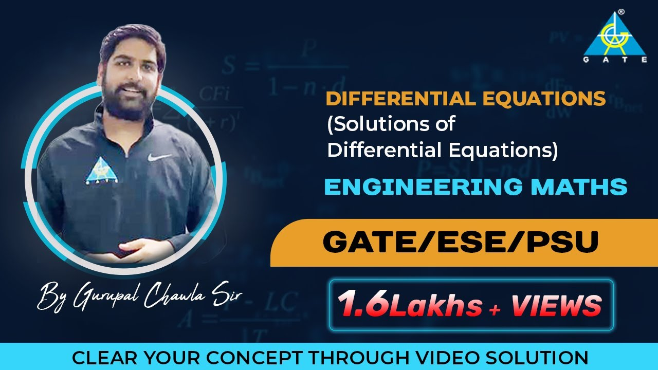Differential Equations(Solutions of Differential Equations) | Engineering  Mathematics