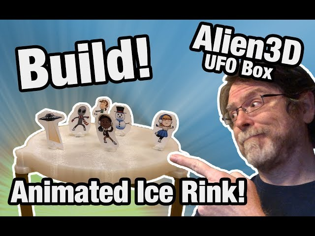 Build: Alien3D December 2018 UFO Project - Magnetic Ice Skating Rink