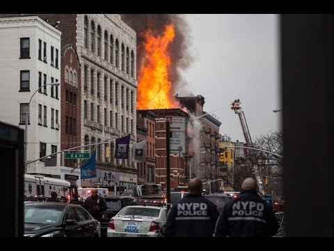 Huge Explosion Building Collapse East Village Manhattan March 26, 2015 New York