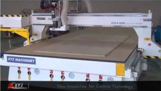 Working Video XYZ P 2050 with ATC Auto tool changer CNC Router