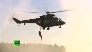 RAW: US military rumbles through Eastern Europe