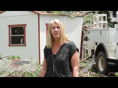 Behind-the-scenes look a tornado damage, SWEPCO restoring power in Longview
