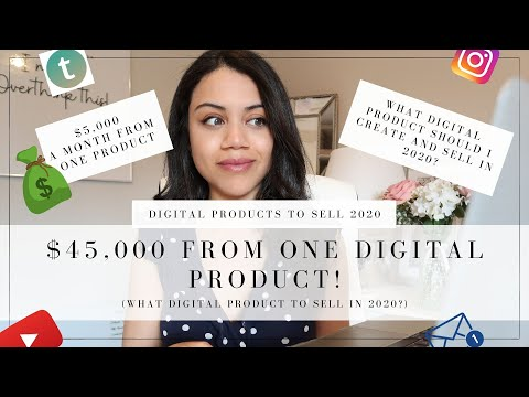 DIGITAL PRODUCTS TO SELL IN 2020 | HOW I MADE $45,000 FROM ONE DIGITAL PRODUCT! 💰👩🏼‍💻💕