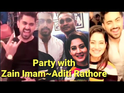 Aditi Rathore and Zain Imam partying together| Adiza~Avneil thumbnail