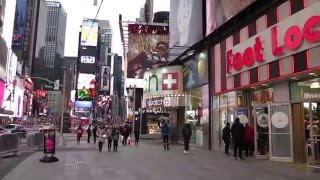 New York City - Walking 45th Street from Times Square to 6th Av.