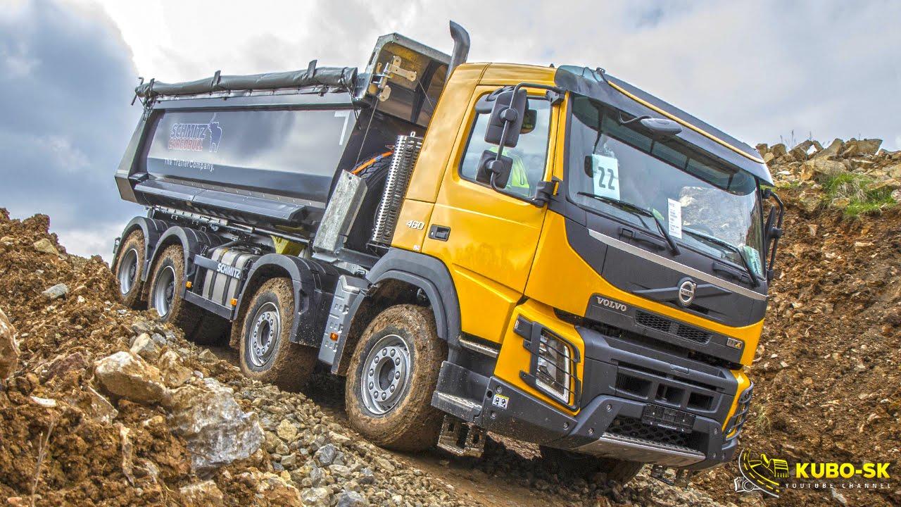 Volvo Trucks in construction - Volvo FMX show Czech 2016 - YouTube