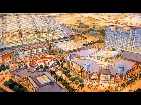 The City of Arlington and the Texas Rangers unveil plans for a new ballpark in Arlington