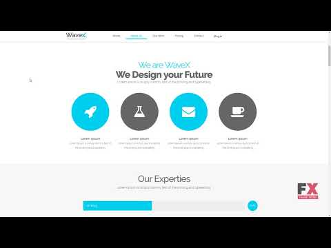 WaveX - One Page Parallax Joomla Template        Jace Cordell