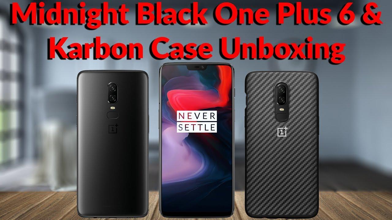 668b7de5aa Midnight Black OnePlus 6 & Karbon Case Unboxing - YouTube Tech Guy ...