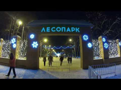 Рязань НОЧНОЙ ЛЕСОПАРК АЭРОСЪЁМКА  31.12.2018
