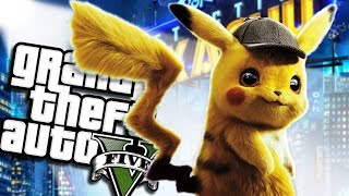 The NEW POKEMON Detective Pikachu MOVIE MOD - PART 1 (GTA 5 PC Mods Gameplay)