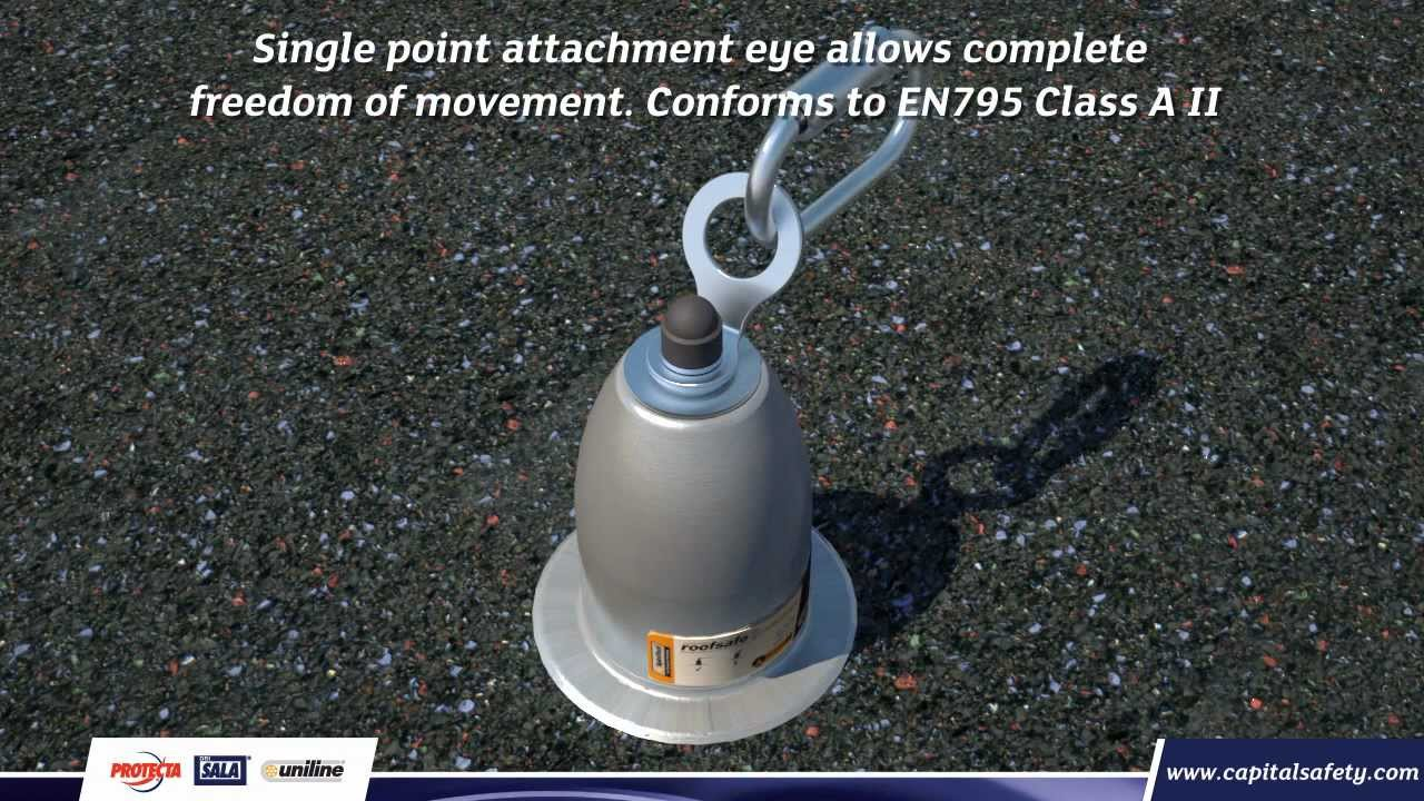 Fall Arrest Roof Anchor And Roof Safety Line Wmv Youtube
